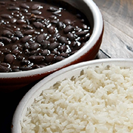 Brazilian Style Rice & Brazilian Black Beans