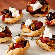 Feta, Olive and Chorizo Tart