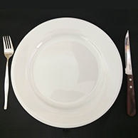 Porcelain Plates & Cutlery for Main Meal