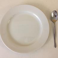 Dessert Porcelain Plates & Cutlery