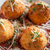 Bacon & Cheese Risotto Ball