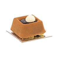 Platted dessert - Pistachio Savarin (gluten free)
